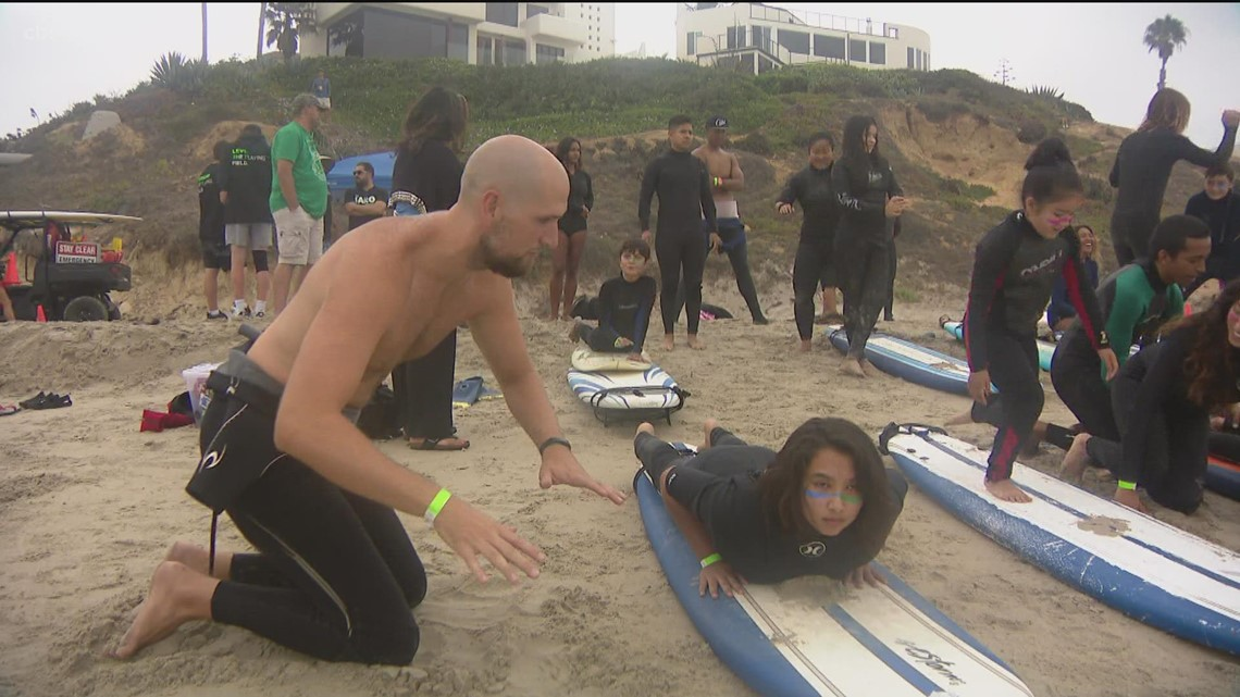 South Bay non-profit hits the water to teach kids how to surf