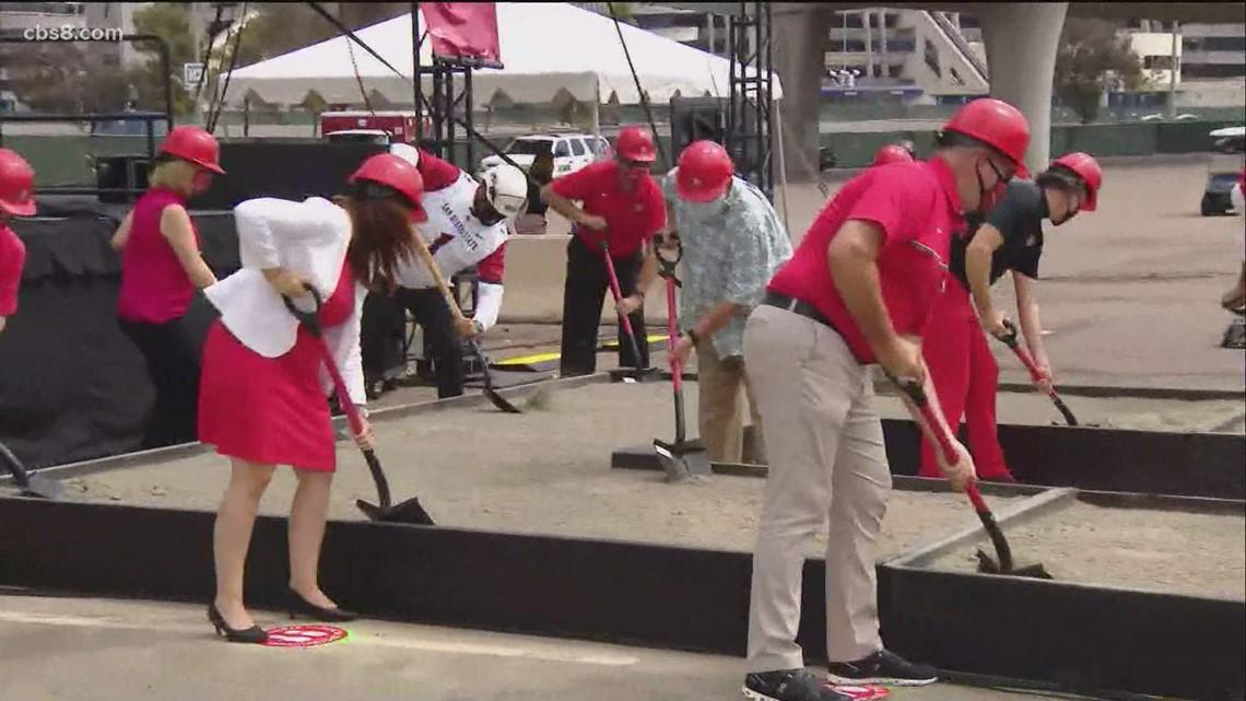 SDSU breaks ground on Mission Valley campus, stadium project