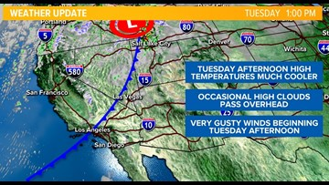 Gusty winds expected in San Diego County mountains, deserts and coastal areas
