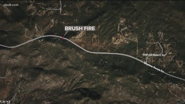 Fire crews stop brush fire in Lyons Valley, near Jamul