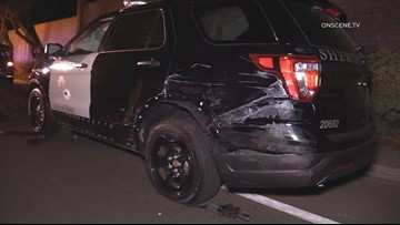 Deputy injured when car driven by suspected DUI driver hits patrol vehicle