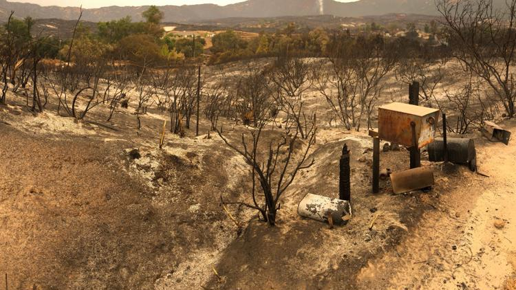 'Just run' | East San Diego County families lose homes to Valley Fire