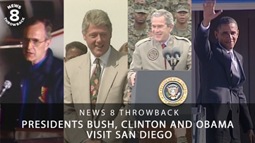 News 8 Throwback: Presidents Bush, Clinton, and Obama visit San Diego