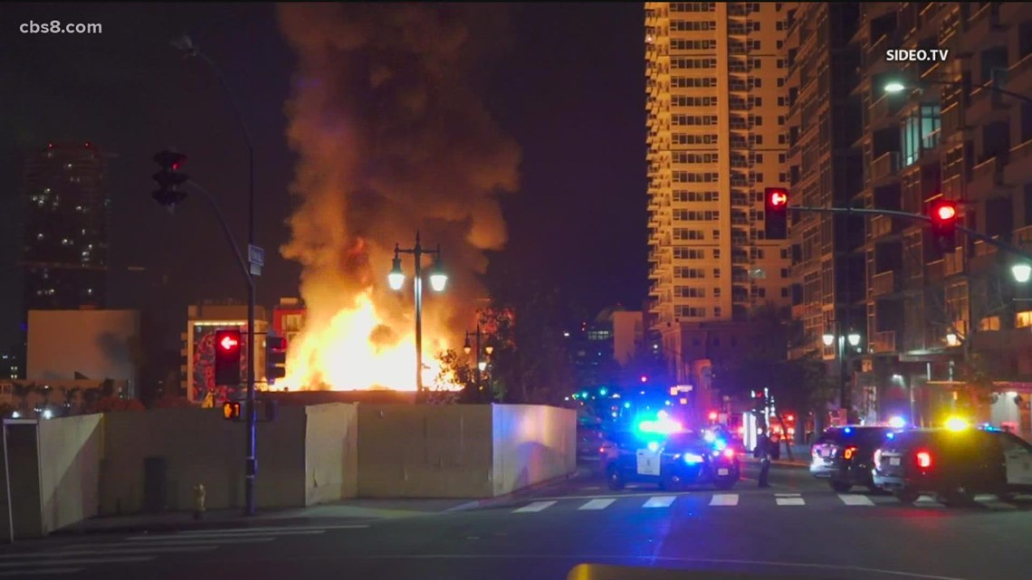 Fire at Old Restaurant & Café in East Village