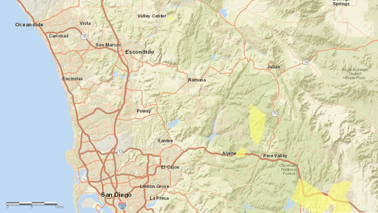 potential outage map SDG&E