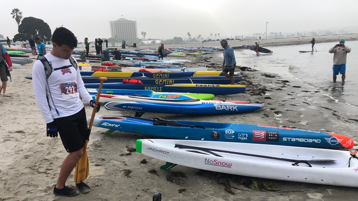 Blind athlete hits the water in Mission Bay