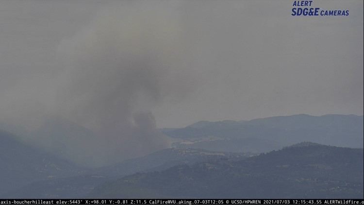 Fire in Santa Ysabel burns 173-acres