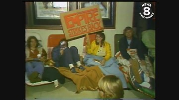 Fans line up for the 'Star Wars' sequel 'Empire Strikes Back' opening night in San Diego in 1980