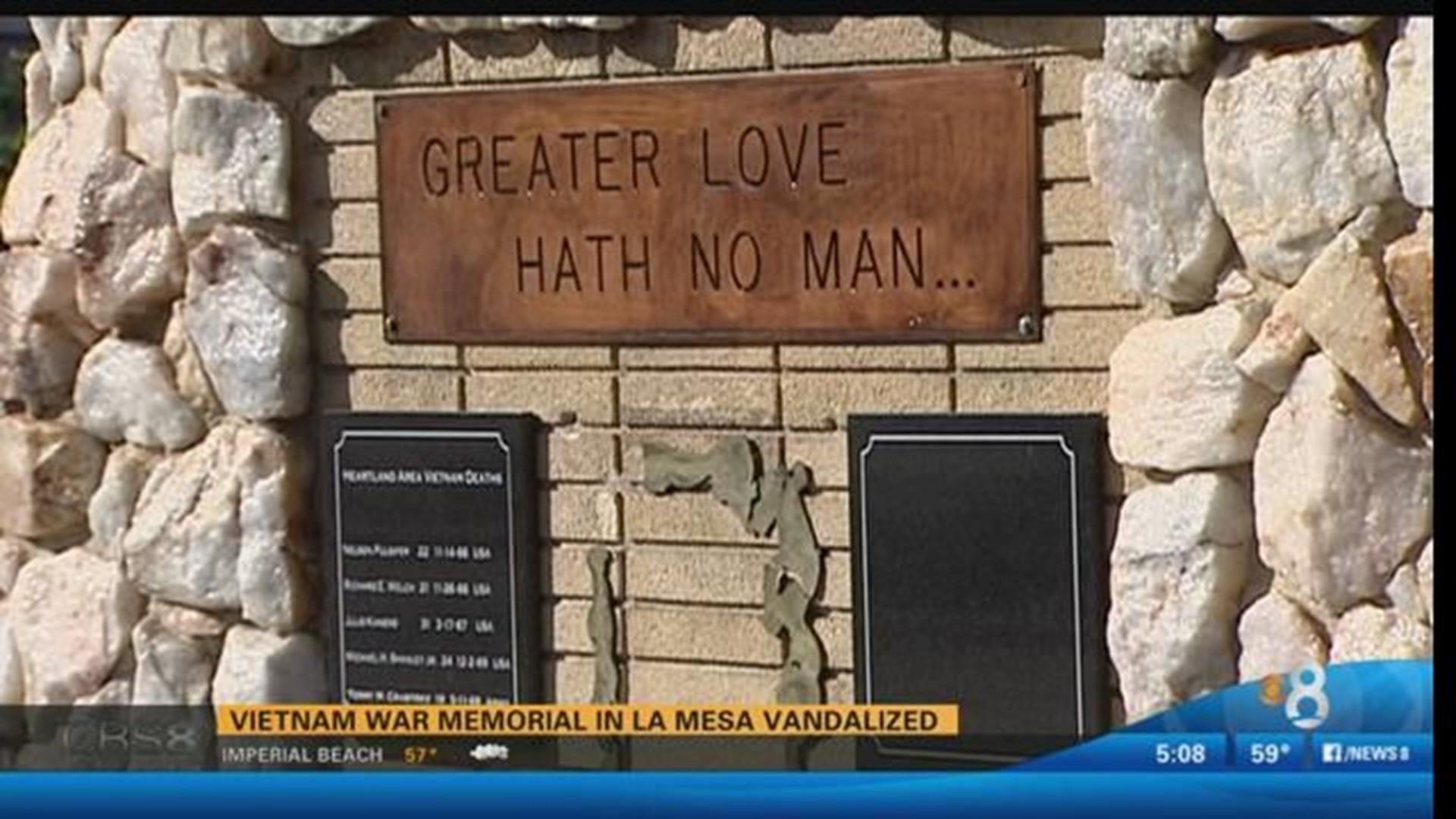 Vietnam War Memorial In La Mesa Vandalized Cbs8 Com