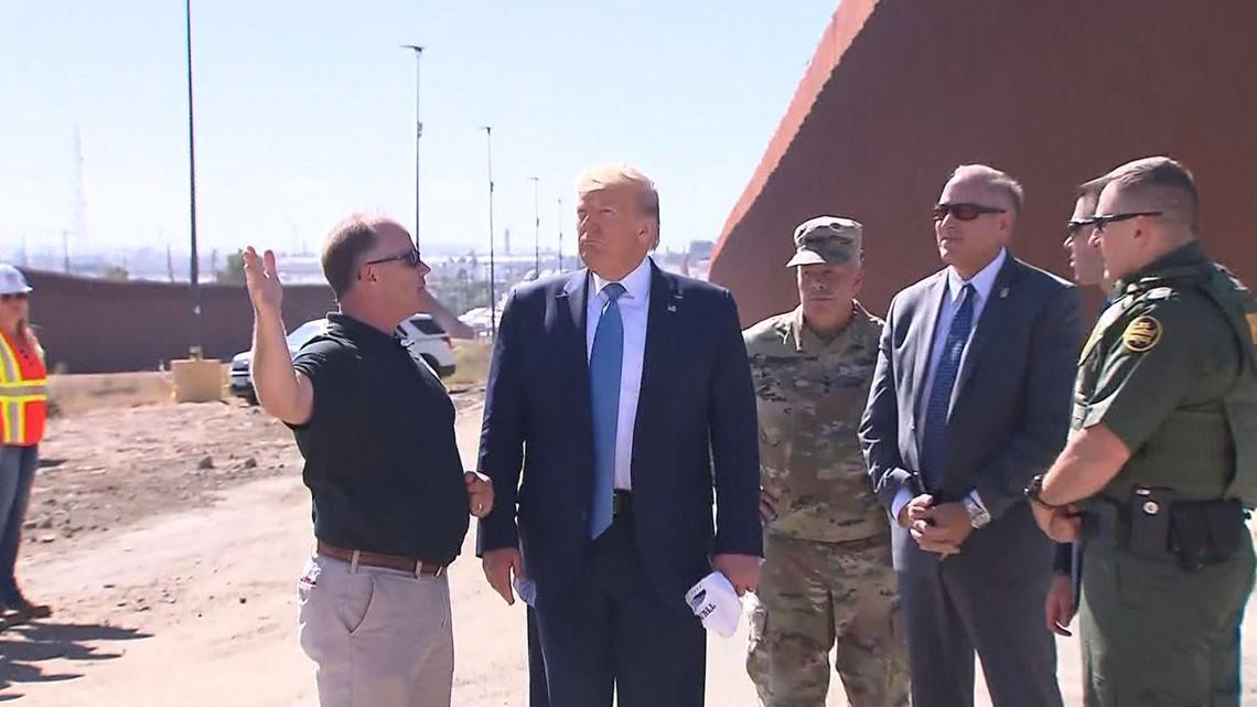 PHOTOS: President Trump at San Diego border in Otay Mesa