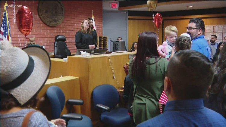 Adopt 8: Court celebration of new families in San Diego