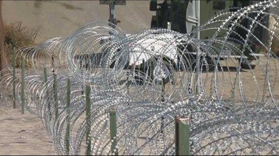 Wondrous A Closer Look At Razor Wire Reinforcing Border Wall Cbs8 Com Wiring Cloud Hisonuggs Outletorg
