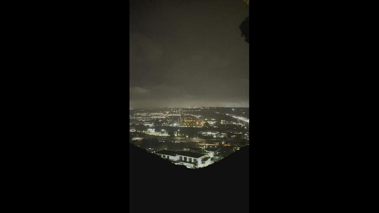 Lightening- view from North Park facing north 805