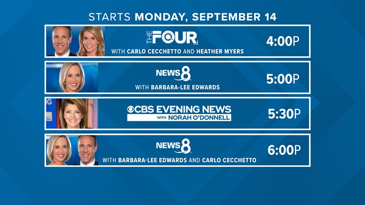 Big changes to the weekday lineup on CBS 8!