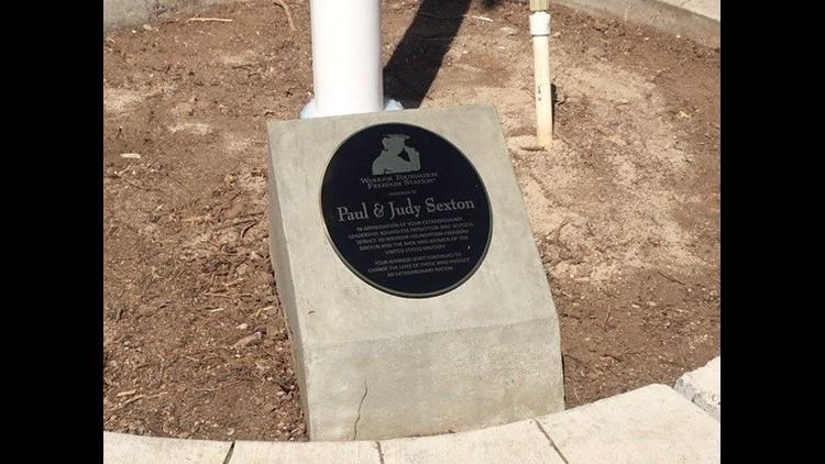 Warrior Foundation plaque 2