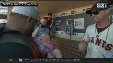 News 8's Neda Iranpour's husband goes viral after catching home run ball while holding baby