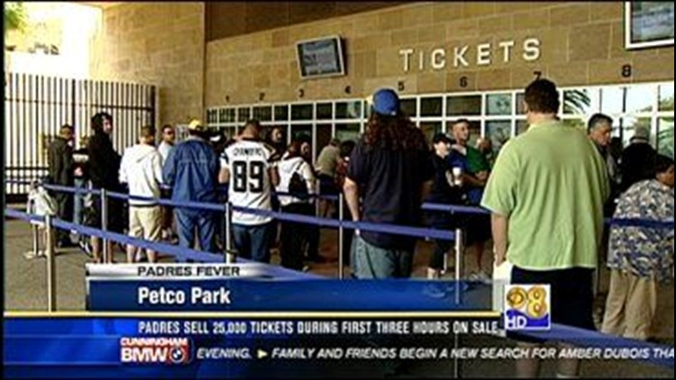 Padres Fever : 2009 Tickets on Sale at Petco Park | cbs8 com
