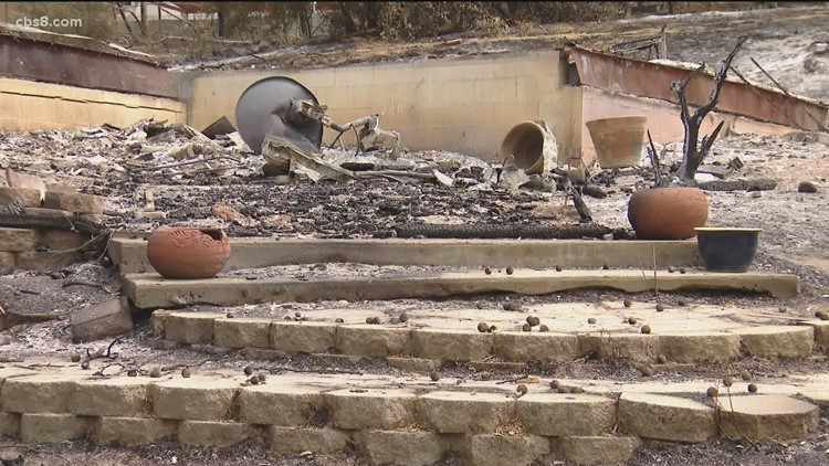 Fire victim struggling to rebuild home after Jamul fire