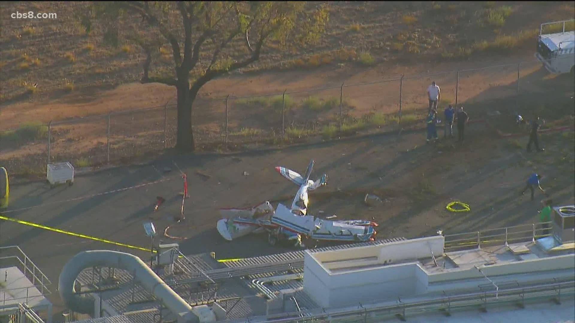 Passenger Pilot Injured In Small Plane Crash Near Montgomery Field Cbs8 Com