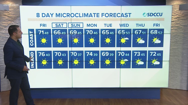 Sunny and mild Friday ahead of weekend fog and breezy winds