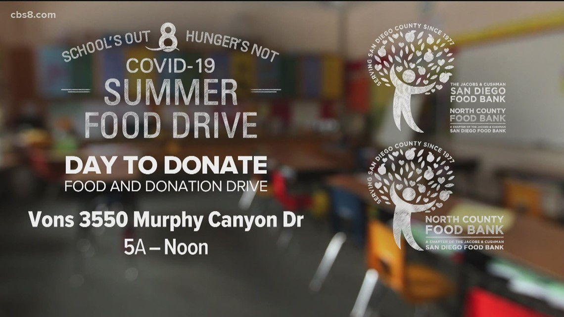 'School's Out, Hunger's Not' Day to Donate food drive