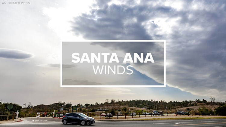 Santa Ana winds with 'near-critical' fire weather conditions in San Diego