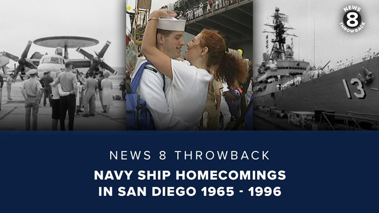 News 8 Throwback: Navy ship homecomings in San Diego 1965 - 1996