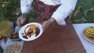 Grilling with Styles: Rum Soaked Grilled Pineapple w/ Vanilla Ice Cream