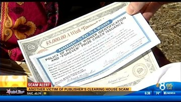 Another victim of Publisher's Clearing House scam | cbs8 com