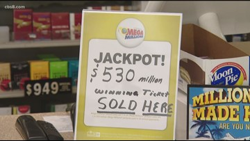 Mega Millions ticket with all six numbers sold in San Diego