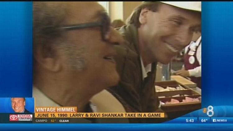 Vintage Himmel: Larry & Ravi Shankar take in a game