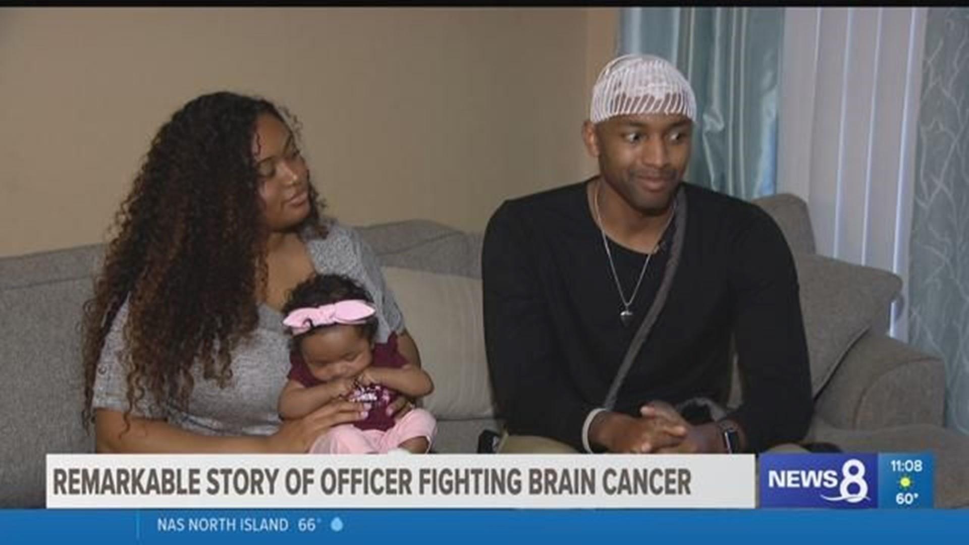 Remarkable Story Of An Oceanside Police Officer Fighting Brain