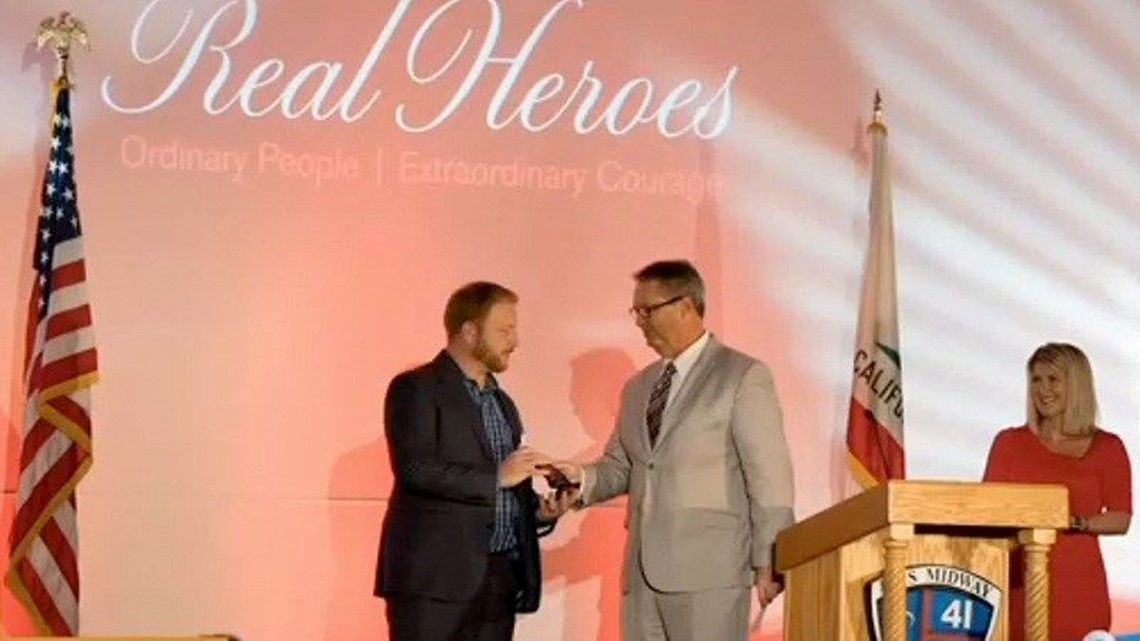 "Red Cross ""Real Heroes"" honoree recognized with Change It Up award from News 8"