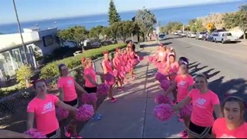 2015: Westview High School cheerleaders at Race for the Cure