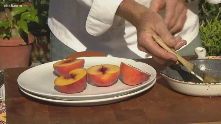 Grilling with Styles on Labor Day: Grilled peach bread pudding (Part 1)