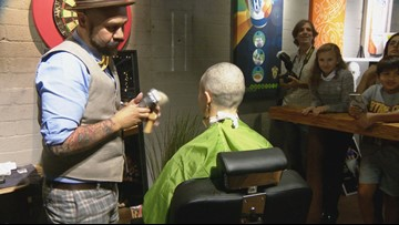 Mike Hess Brewery hosts head shaving event to raise money for pediatric cancer research