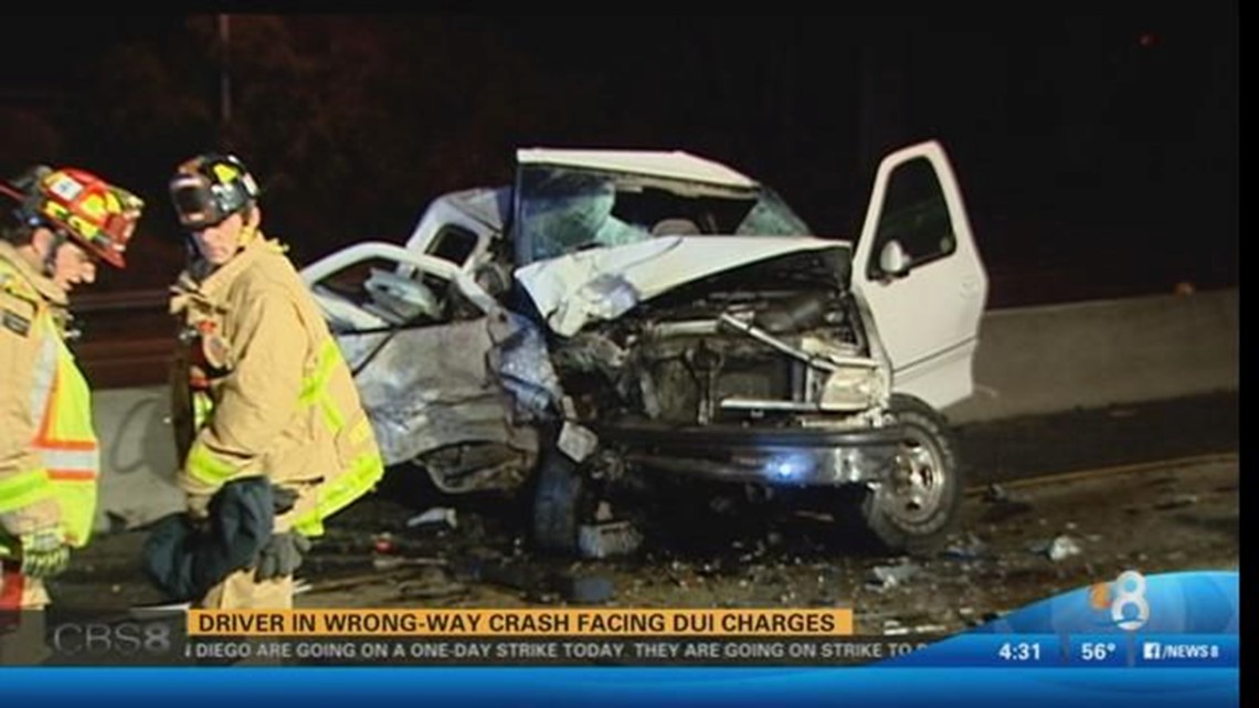 Driver in wrong-way crash facing DUI charges | cbs8 com