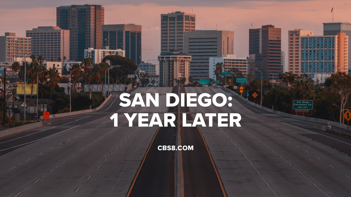 Drone view: San Diego on year later