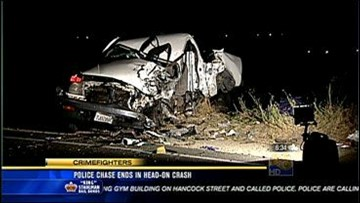 Police Chase Ends in Fatal Head-On Crash Near Bonsall | cbs8 com