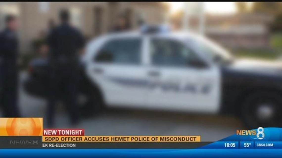 SDPD officer accuses Hemet Police of misconduct | cbs8 com
