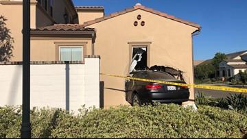 Car full of teens crashes through Carmel Valley home