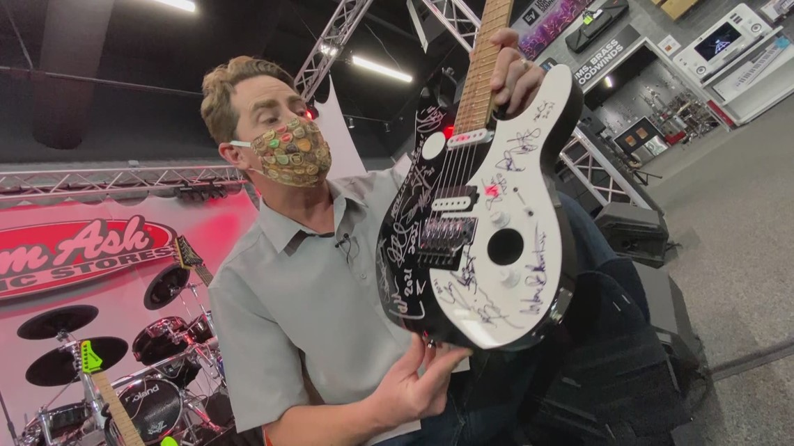 Greatest 'Rock Stars' on the planet donate guitars for a good cause