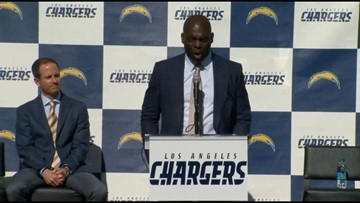 LA Chargers introduce Anthony Lynn as coach