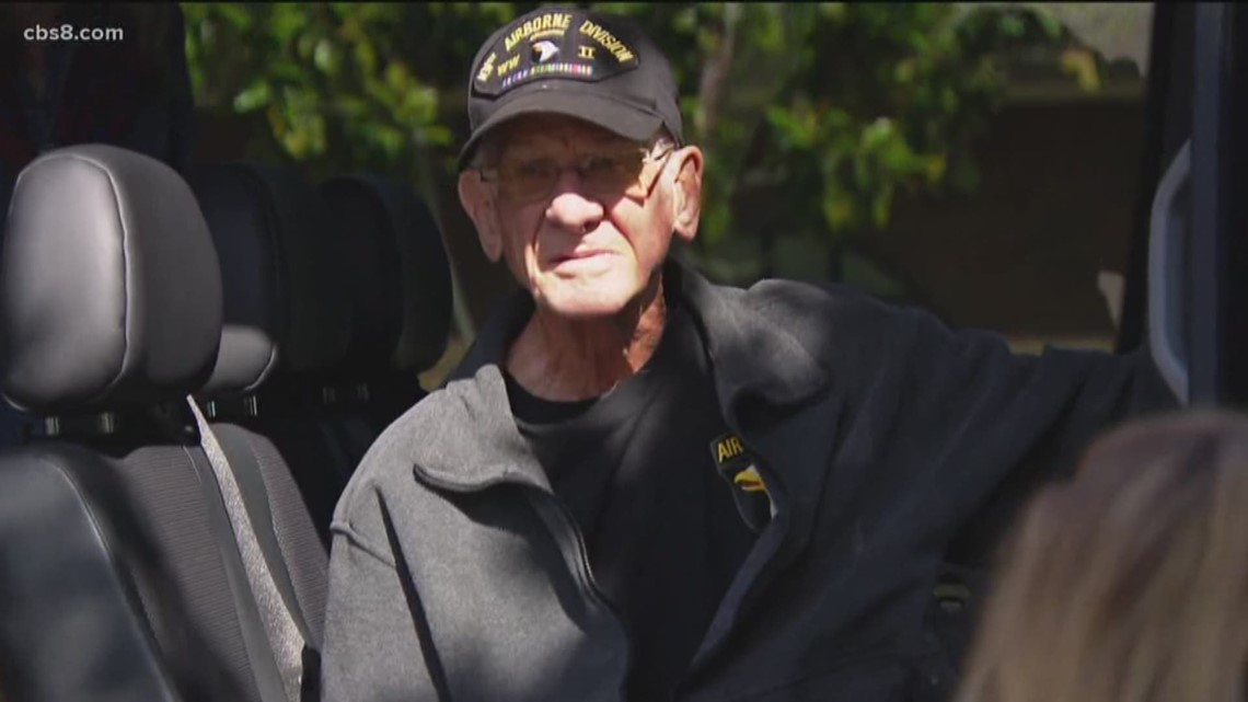 Coronado D-Day paratrooper returns home