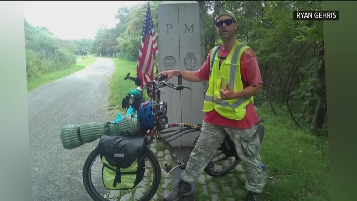 Bike used by Ocean Beach man in patriotic ride across the country stolen