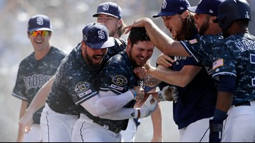 Renfroe's grand slam in 9th lifts San Diego Padres over Dodgers 8-5