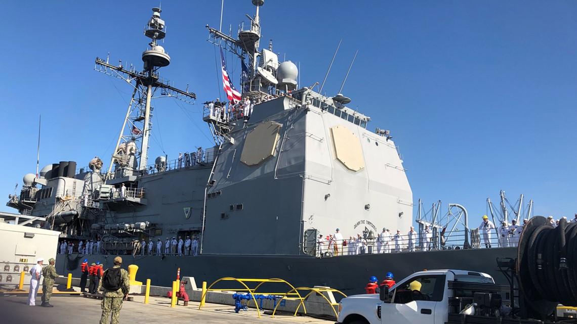 USS Mobile Bay returns to San Diego from deployment