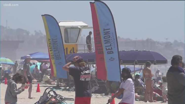 Warm weather brings crowds to San Diego beaches, safety precautions are a priority