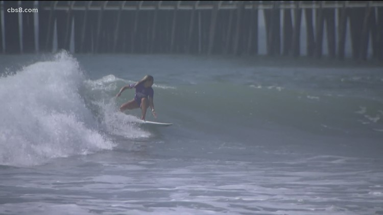 Top female surfers take to Oceanside beach