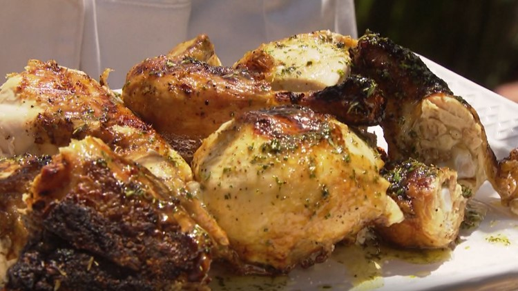 Cooking with Styles: Grilled whole chicken